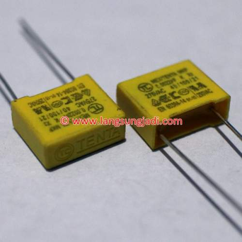 0.0022uF (2.2nF) 275VAC X2 capacitor, each