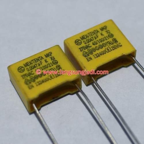 0.0047uF (4.7nF) 275VAC X2 capacitor, each