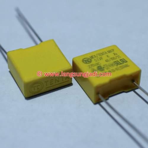 0.1uF (100nF) 275VAC X2 MEX/Tenta MKP capacitor