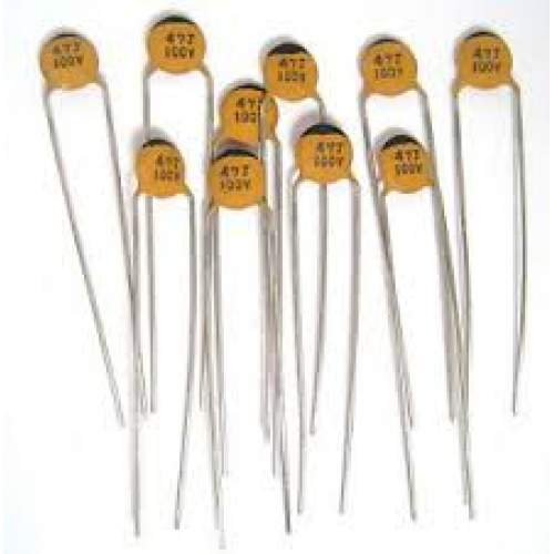 3pF ceramic disc capacitor, each