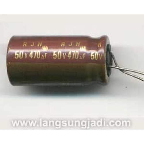 1uF 50V Elna RJH electrolytic capacitor, each -SOLD