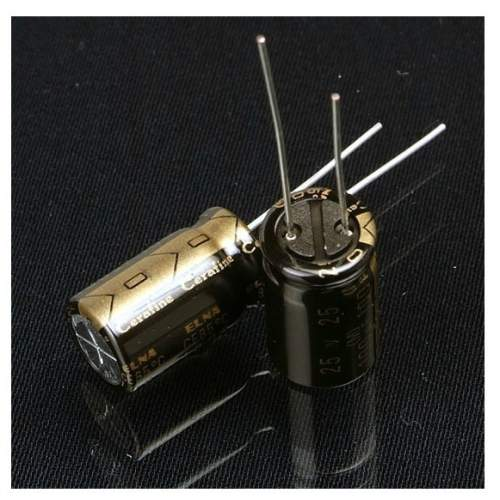 0.47uF 50V Elna Cerafine electrolytic capacitor, each