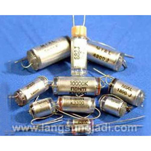 150pF polystyrene paper foil capacitor, each