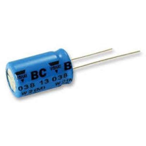 10uF 16V Vishay BCcomponents electrolytic capacitor, each