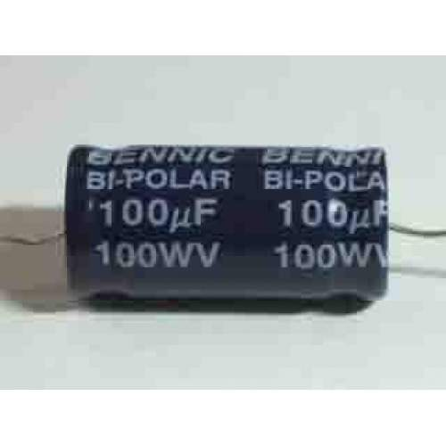 2.2uF 100V Bennic electrolytic capacitor, each