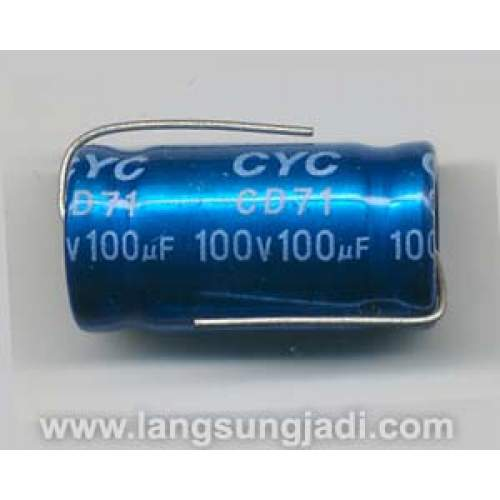 100uF 100V CYC BP/NP electrolytic capacitor