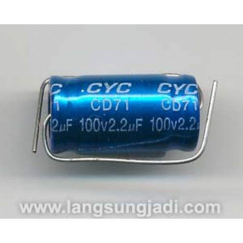 2.2uF 100V CYC BP/NP electrolytic capacitor