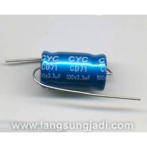 3.3uF 100V CYC BP/NP electrolytic capacitor