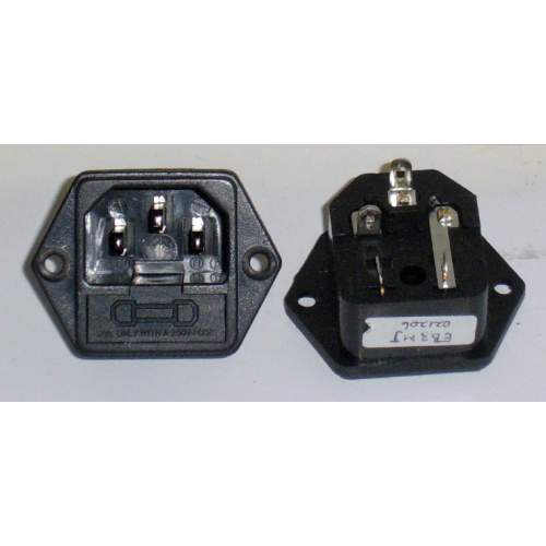 IEC Inlet + Fuse Holder, each
