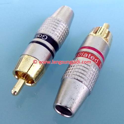RCA Cable Connector-Male, pair -SOLD