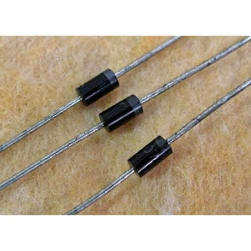1N4007, 1A 1000V silicon diode rectifier, each