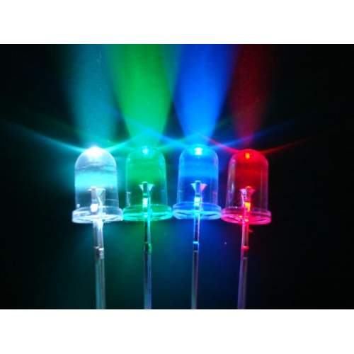 LED 3 mm, transparent-blue, each