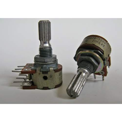 20KBx2 ALPS RK16 potentiometer, center click, Japan old-stock
