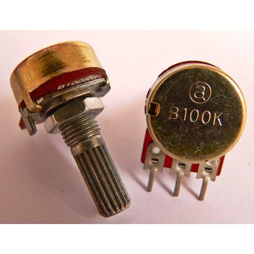 1xB100K potentiometer, each -SOLD