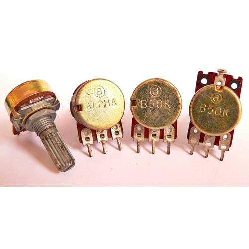 1xB50K potentiometer, each