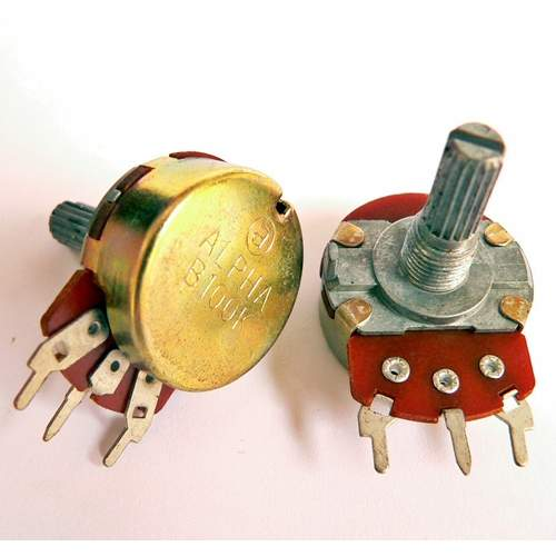 1xB100K potentiometer, each