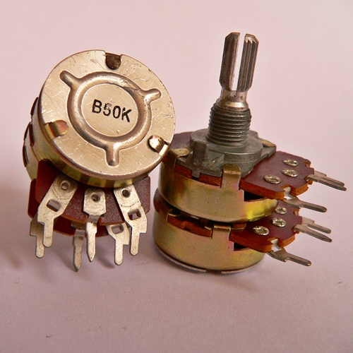 2xB50K Alpha R24 stereo potentiometer