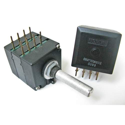2xA100K Noble potentiometer, each