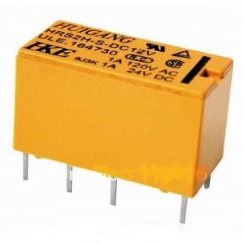 5V 8-pin DPDT microminiature (signal) relay, 1A 120VAC, each