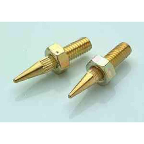 6mm spike, gold-plated, each
