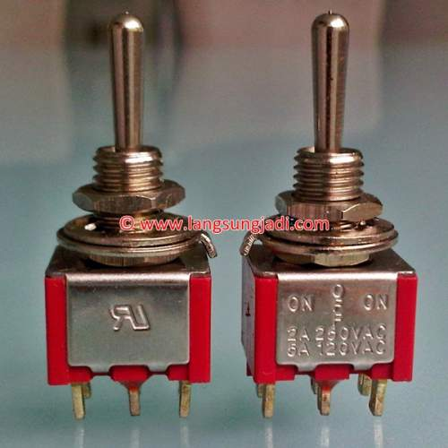 DPDT Toggle Switch (ON-OFF-ON), each
