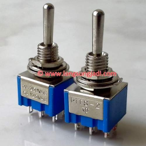 DPDT Toggle Switch (ON-ON-ON), each