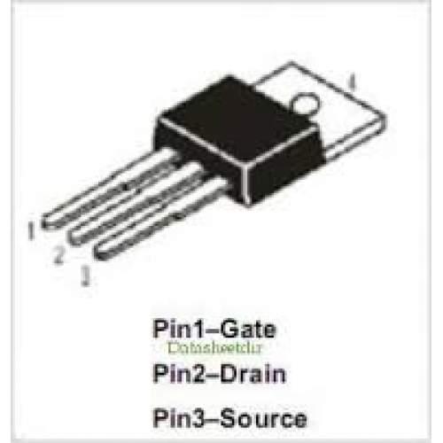 IRF510, 4A, 100V, 43W, N-Chanel Power MOSFET, each